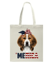 Beagle-With-Bandana-USA-FLAG Tote Bag thumbnail