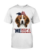 Beagle-With-Bandana-USA-FLAG Classic T-Shirt thumbnail