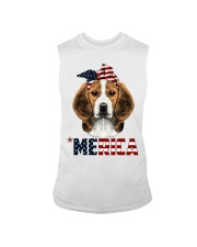 Beagle-With-Bandana-USA-FLAG Sleeveless Tee thumbnail