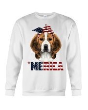 Beagle-With-Bandana-USA-FLAG Crewneck Sweatshirt thumbnail