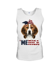 Beagle-With-Bandana-USA-FLAG Unisex Tank thumbnail