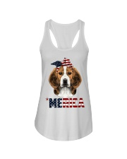 Beagle-With-Bandana-USA-FLAG Ladies Flowy Tank thumbnail
