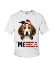 Beagle-With-Bandana-USA-FLAG Youth T-Shirt thumbnail