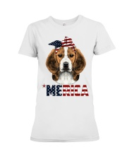 Beagle-With-Bandana-USA-FLAG Premium Fit Ladies Tee thumbnail