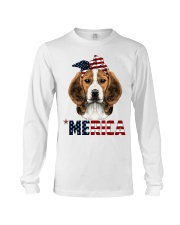 Beagle-With-Bandana-USA-FLAG Long Sleeve Tee thumbnail