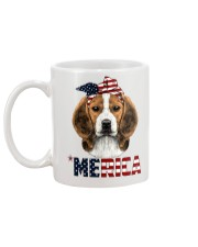 Beagle-With-Bandana-USA-FLAG Mug back