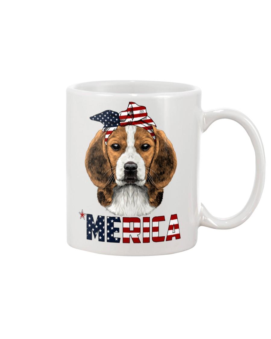 Beagle-With-Bandana-USA-FLAG Mug