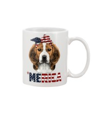Beagle-With-Bandana-USA-FLAG Mug front