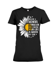 SCHOOL COUNSELOR DAISY Premium Fit Ladies Tee thumbnail
