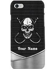Custom Metal Fishing Skull Personalized Name Phone Case i-phone-8-case