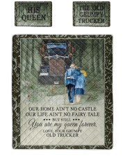 Custom Name Grumpy Old Trucker And His Queen Twin Quilt Bed Set front