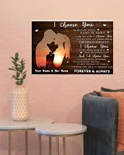 Custom Name I Choose you Gift for Couple 24x16 Poster poster-landscape-24x16-lifestyle-22