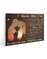 Custom Name I Choose you Gift for Couple 30x20 Gallery Wrapped Canvas Prints thumbnail