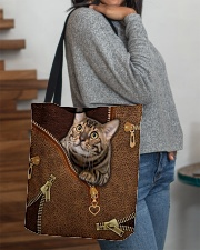 Cat Leather like All-over Tote aos-all-over-tote-lifestyle-front-09