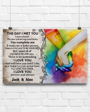 Custom LGBT The Day I Met You Personalized Name 17x11 Poster aos-poster-landscape-17x11-lifestyle-17