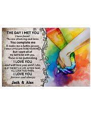 Custom LGBT The Day I Met You Personalized Name 17x11 Poster front