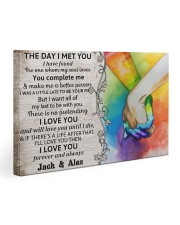 Custom LGBT The Day I Met You Personalized Name 30x20 Gallery Wrapped Canvas Prints thumbnail