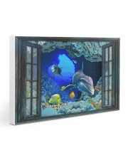 Dolphin To The Ocean I Go 30x20 Gallery Wrapped Canvas Prints thumbnail