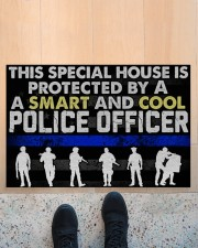 """Police This Special House Is Protected By A Police Doormat 22.5"""" x 15""""  aos-doormat-22-5x15-lifestyle-front-10"""
