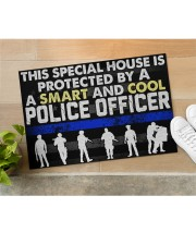 """Police This Special House Is Protected By A Police Doormat 22.5"""" x 15""""  aos-doormat-22-5x15-lifestyle-front-11"""