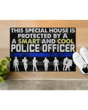 """Police This Special House Is Protected By A Police Doormat 22.5"""" x 15""""  aos-doormat-22-5x15-lifestyle-front-12"""