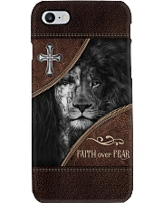 Faith over Fear Jesus and Lion Phone Case i-phone-8-case