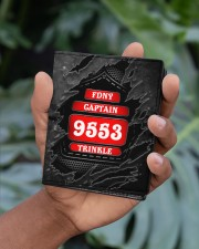 Custom Firefighter Department Rank Number Name Men's Leather Wallet aos-men-leather-wallet-lifestyle-front-01