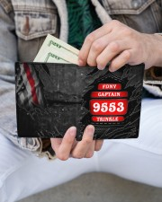 Custom Firefighter Department Rank Number Name Men's Leather Wallet aos-men-leather-wallet-lifestyle-front-14