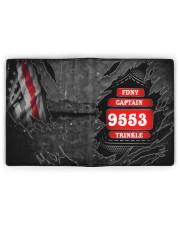 Custom Firefighter Department Rank Number Name Men's Leather Wallet full