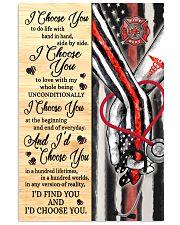 Firefighter Nurse I Choose You 11x17 Poster front