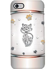 Silver Cat Phone Case thumbnail
