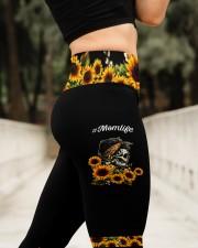 Skull Mom Life Dark Legging High Waist Leggings aos-high-waist-leggings-lifestyle-11