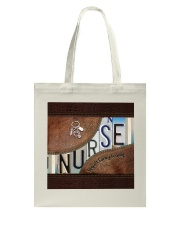 Nurse Respect Caring Courage Leather Pattern Tote Bag thumbnail
