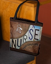 Nurse Respect Caring Courage Leather Pattern All-over Tote aos-all-over-tote-lifestyle-front-02