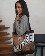 Nurse Respect Caring Courage Leather Pattern All-over Tote aos-all-over-tote-lifestyle-front-08
