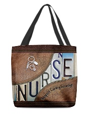 Nurse Respect Caring Courage Leather Pattern All-over Tote front