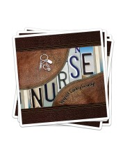 Nurse Respect Caring Courage Leather Pattern Sticker - 4 pack (Vertical) thumbnail