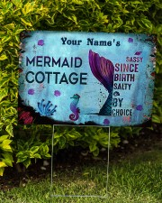 Custom Name Mermaid Cottage Salty By Choice 24x18 Yard Sign aos-yard-sign-24x18-lifestyle-front-04