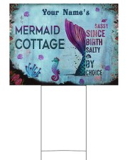 Custom Name Mermaid Cottage Salty By Choice 24x18 Yard Sign front