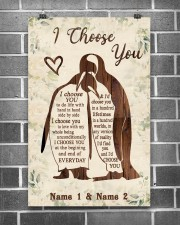 Custom Penguin I Choose You Personalized Name 11x17 Poster aos-poster-portrait-11x17-lifestyle-18