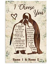 Custom Penguin I Choose You Personalized Name 11x17 Poster front
