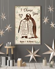Custom Penguin I Choose You Personalized Name 11x17 Poster lifestyle-holiday-poster-1