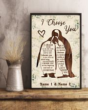 Custom Penguin I Choose You Personalized Name 11x17 Poster lifestyle-poster-3