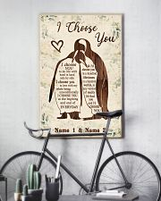Custom Penguin I Choose You Personalized Name 11x17 Poster lifestyle-poster-7