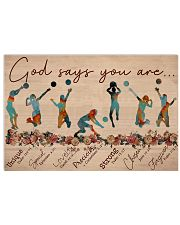 Volleyball God says you are Female player 17x11 Poster front