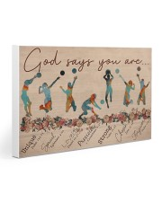 Volleyball God says you are Female player Gallery Wrapped Canvas Prints tile