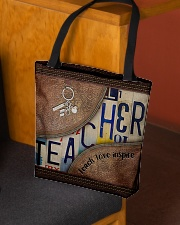 Teacher Teach Love Inspire Leather Pattern Print All-over Tote aos-all-over-tote-lifestyle-front-02