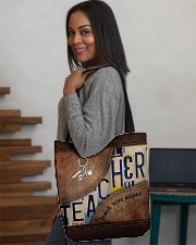 Teacher Teach Love Inspire Leather Pattern Print All-over Tote aos-all-over-tote-lifestyle-front-08