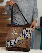 Teacher Teach Love Inspire Leather Pattern Print All-over Tote aos-all-over-tote-lifestyle-front-10