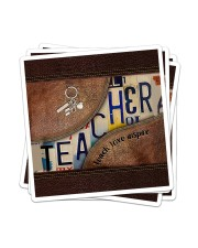 Teacher Teach Love Inspire Leather Pattern Print Sticker - 4 pack (Vertical) thumbnail